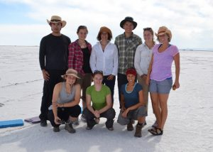 Bowen research team on Bonneville Salt Flats